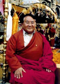 Sogyal Rinpoche in Bodhgaya